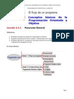 POO Sesión 2. Flujo de Programa. Conceptos Básicos POO. Lectura
