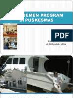 Manajemen Program Di Puskesmas