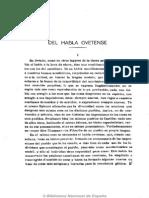 Del Habla Ovetense (I)