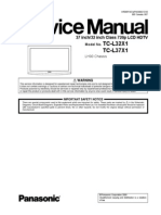 Panasonic LCD HDTV TC-L32X1 TC-L37X1 Chassis LH90 Service Manual