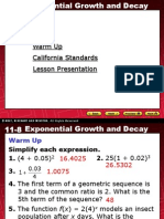 7 Exponential Growth and Decay