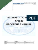 Hydro Test Procedures
