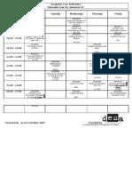 Yr 02 Sem 01 Timetable