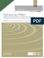 Proyecto de Modificaciones a La Niif Para Las Pymes_
