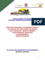 PROYECTO de FCI ASFALTADO Bacheo y Pavimentacion en Los Sectores Calanche,Las Tuquecas Y Banco Obrero