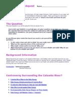 Catawba River Webquest