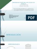 Efectos del diseño geométrico de la hidrodinámica y