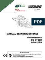 Instrucciones Motosierra de Poda Cs 420 Es