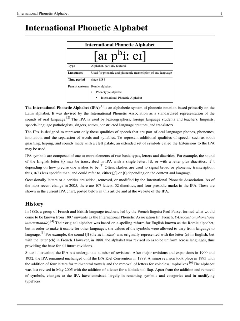 International Phonetic Alphabet Ipa Vowel Consonant