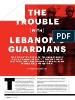 The Trouble with Lebanon's Guardians