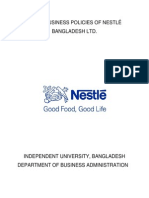 A Project on Nestle BD