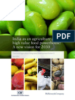 India as an Agriculture and High Value Food Powerhouse
