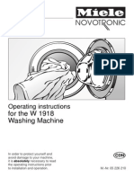 W1918 - Washer - Operating Instructions - 5226210