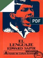 Sapir, Edward, El Lenguaje