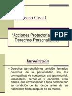 Acciones Protectorias Dchos. Personalisimos