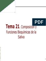 Composicion y Funciones Bioquimicas de La Saliva