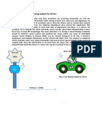 RF Information and Warning System for Driver