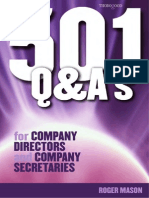 501 Questions and Answers for Company Directors and Company Secretaries