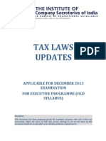 Tax Laws Updates for December 2013 Exams