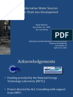 Alternative Water Sources for Shale Gas Development (2012)