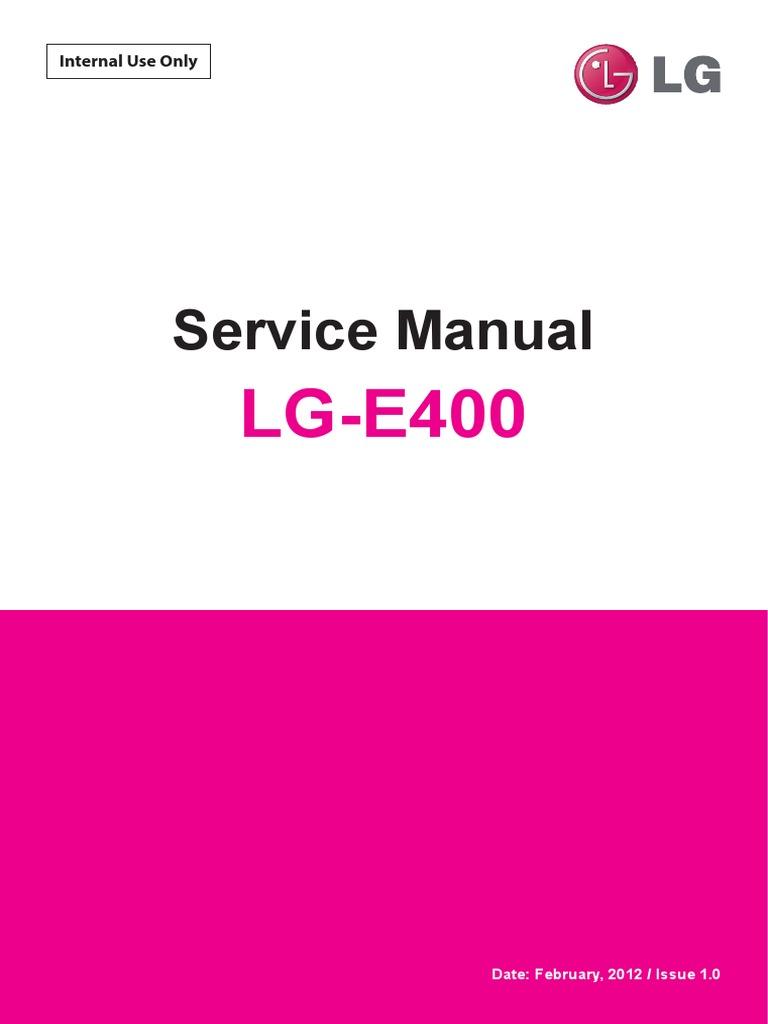 lg e400 optimus l3 service manual android operating system ip rh scribd com lg e400 service manual lg-e400 manuale d'uso