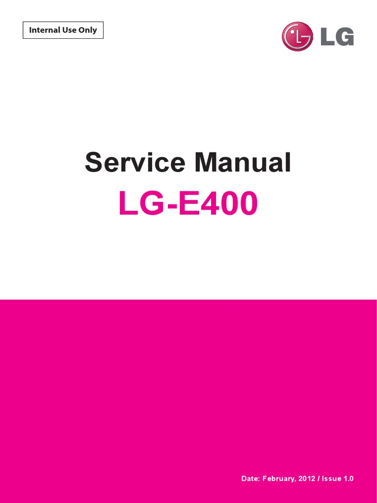 LG E400 Optimus L3 Service Manual | Android (Operating System) | Ip Address