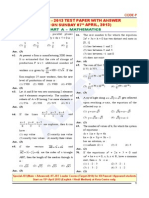 JEE(Main)2013 QPaper Maths With Ans
