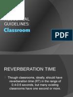 Classroom Acoustics