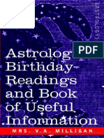 Astrology Birth Readings and Book