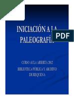 Curso Iniciacion a La Paleografia Web