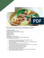 Myra's Picadillo Soup