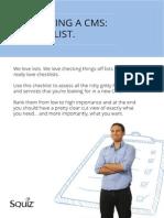 Evaluating a CMS a Checklist