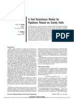A Soil Resistance Model forPipelines Placed on Sandy Soils
