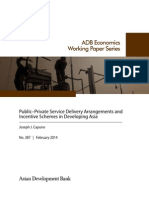 Public-Private Service Delivery Arrangements and Incentive Schemes in Developing Asia