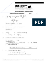 Jee 2014 Booklet1 Hwt Solutions Quadratic Equations & Inequations