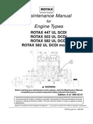 Maintenance Manual 2T Rotax Aircraft Engine | Carburetor