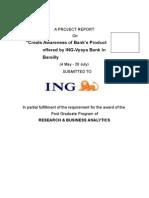 Summer Training Report of ING Vysya Bank Ltd