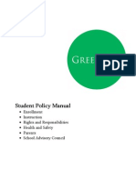 Student Policy Manual