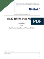 HLK-RM04 User Manual