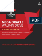 TCS Mega Oracle Walk In Drive 2014