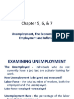 Unemployment, The Economy at Full Employment and Inflation