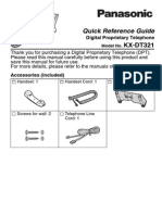 KX-DT321 Quick Reference Guide