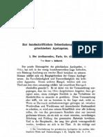 Gebhardt_1882_Zur handschriftlichen Überlieferung der griechischen Apologeten