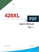 428XL V5.0.22 User's Manual Vol. 1