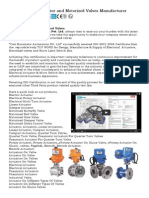 Electric Actuator india, Motorized Valves manufacturer india