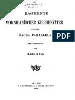 Holl - 1899 - Fragmente vornicänischer Kirchenväter aus den Sacr