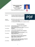Resume of Imtiaz