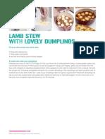 Lamb Stew and Dumplings