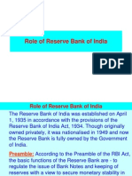 5 Role of  RBI