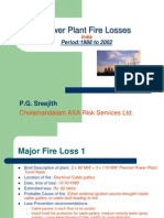 Power Plant Fire Losses